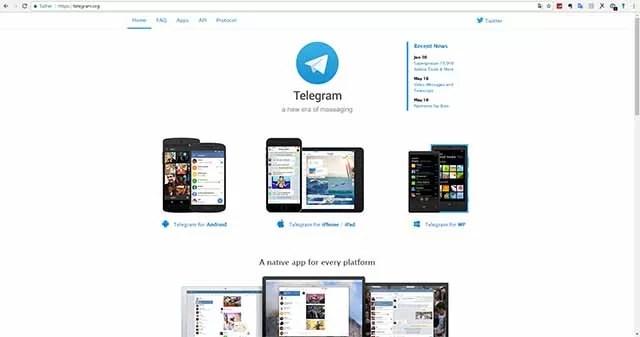 Über meinen ISP ist Telegram.org noch erreichbar
