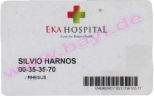 Die Eintrittskarte für das EKA Hospital