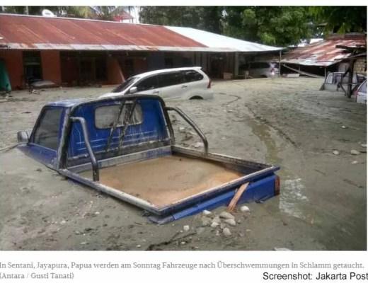 Erdrutsch in Papua fordert 79 Todesopfer / Screenshot: Jakarta Post