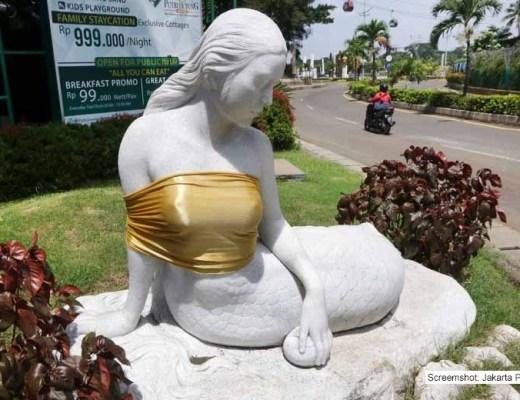 Meerjungfrau - zu nackt für diese Welt / Screenshot: Jakarta Post