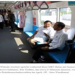 Jokowido und Prabowo treffen sich bei einer MRT Fahrt