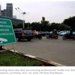 Wer seine Bußgelder in Jakarta nicht bezahlt erlebt eine böse Überraschung
