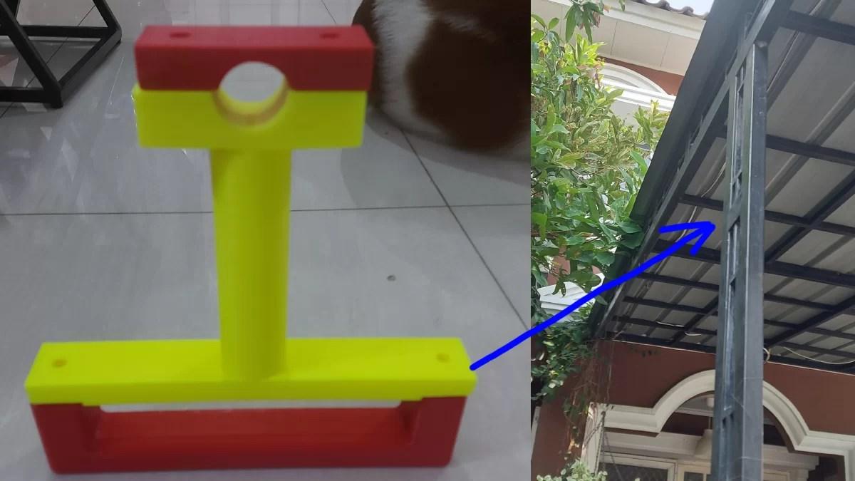 Mein erstes 3D-Druck-Projekt Masthalter