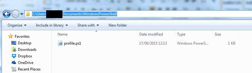 PowerShell Profile location