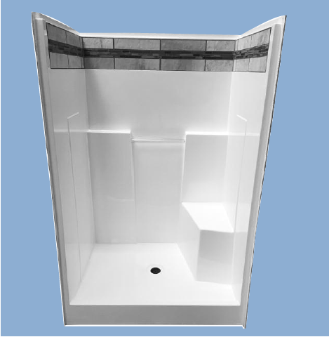 48r Hybrid 48 One Piece Shower Baymont Bathware