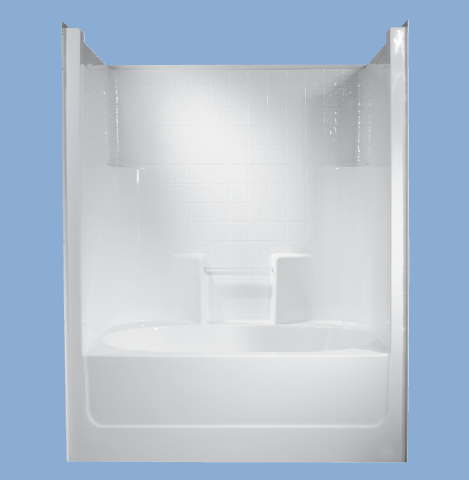 56043 Vanderbilt 60 X 43 One Piece Simulated Tile Tub Shower