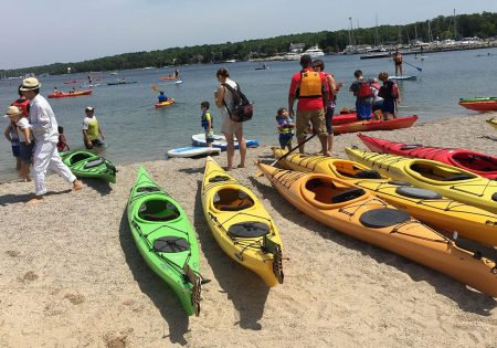 Kayaks and paddle boards