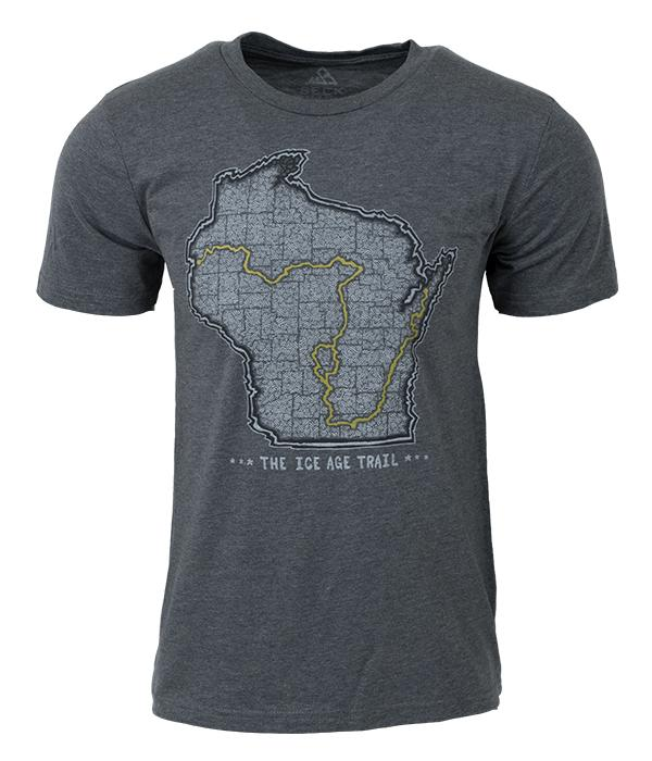 Seek Dry Goods Ice Age Trail Map T-Shirt