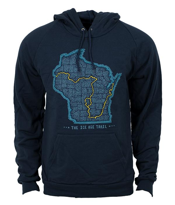 Seek Dry Goods Ice Age Trail Map Hoodie Sweatshirt