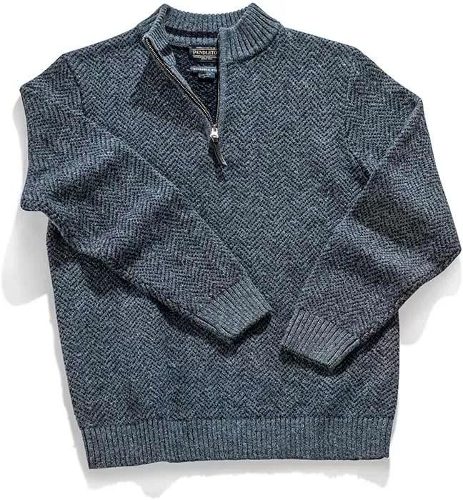 Pendleton M Shetland 1/4 Sweater