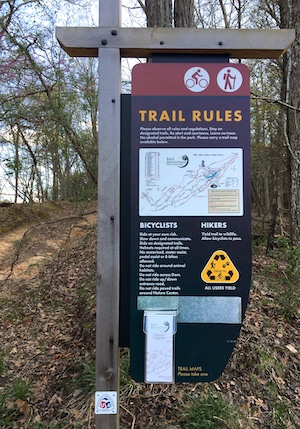 Trail Rules Sign