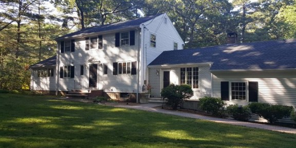 finished roof project in Canton MA