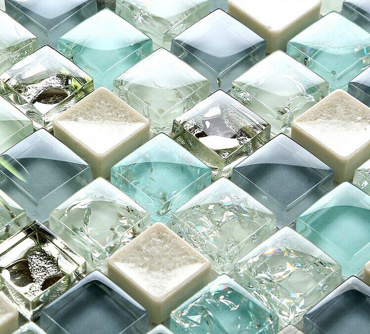 sea glass tiles for bathroom