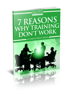 7 reasons why training don't work