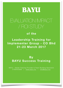 Sample 1 Training Impact & ROI Report Cover