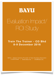 Sample 2 Training Impact & ROI Report