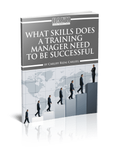 What Skills Does A Training Manager Need To Be Successful eBook