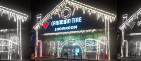 Canadian Tire Showroom lights up Leaside Centre – The South