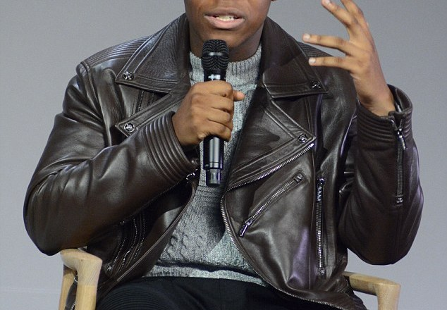 A Q&A with John Boyega, inside NYC 's Apple Store