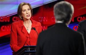 Carly  Fiorina; Full on Vagina, and that GOP debate