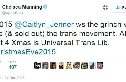 Chelsea Manning is not a fan of Caitlyn  Jenner