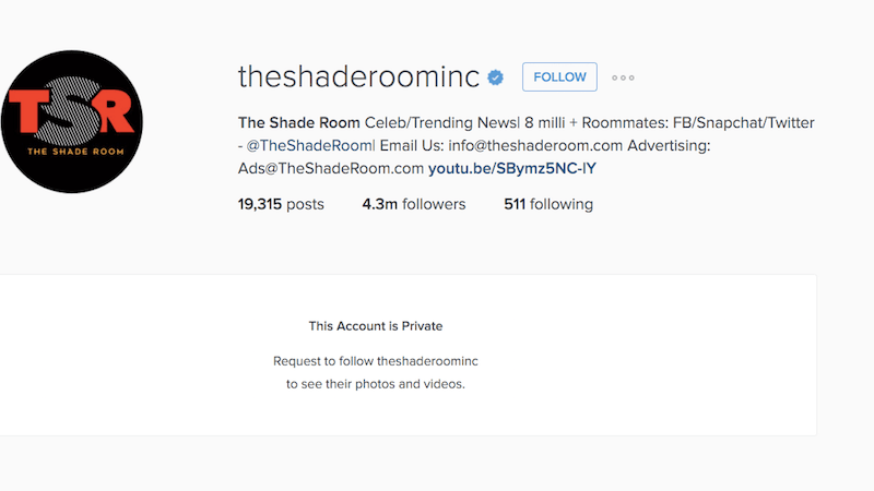 Popular Black Entertainment Outlet The Shade Room Shuttered by FB