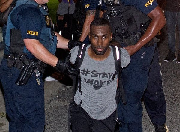 This photo of Deray McKesson being arrested is  undeniably powerful