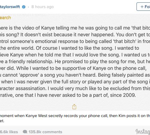 Kim Kardashian just proved Taylor Swift is a huge liar: Top Story