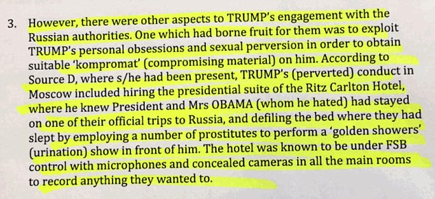 So this is why Russia apparently owns Trump