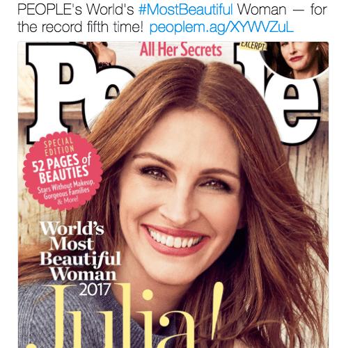 Julia Roberts is People Magazine's Most Beautiful Woman