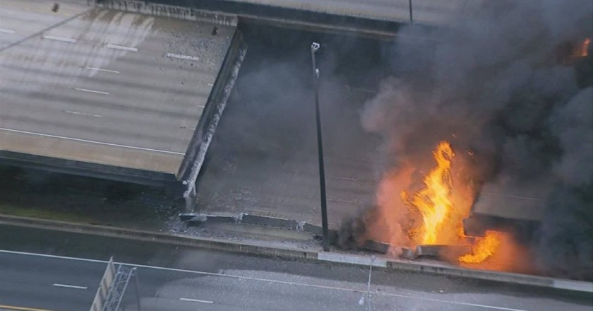 Three arrested in connection to the collapse of Atlanta's busiest interstate