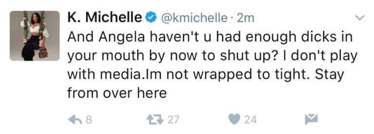 WATCH: K. Michelle blasts Angela Yee,  Angela Yee responds
