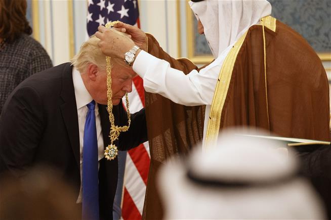 Donald Trump receives Saudi Arabia 's highest honor