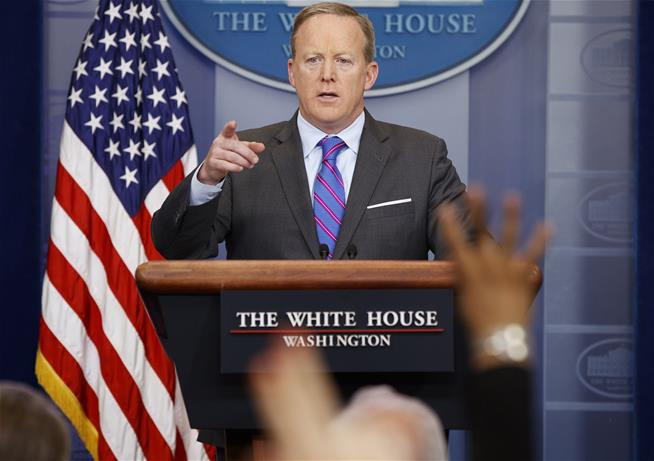 Sean Spicer can spin just about anything