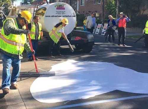 Los Angeles streets turning white to combat rising temps