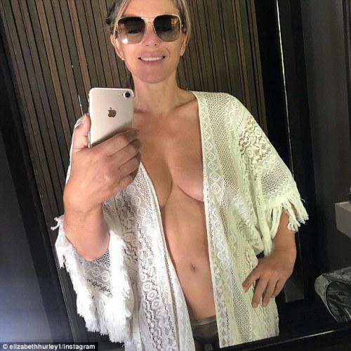 Pics: Elizabeth Hurley, 53, STUNS in bikini photos in Togomogo