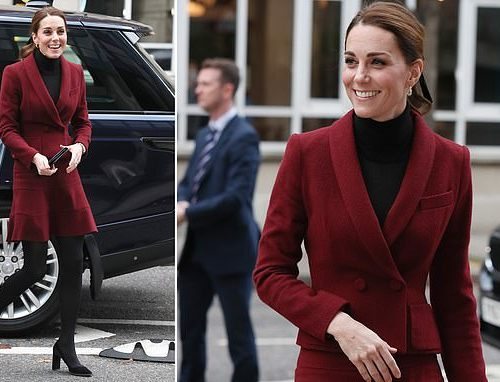 Photos:  Duchess of Cambridge Kate arrives in style for event