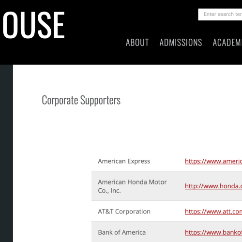 A full list of the corporations funding #Morehouse College