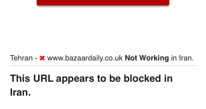 We're investigating reports that we are now restricted in Iran by the government