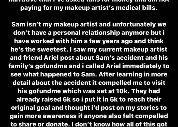 Kylie Jenner makes it clear her post was not about asking her fans for money