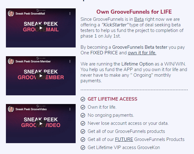 GrooveFunnels Cost