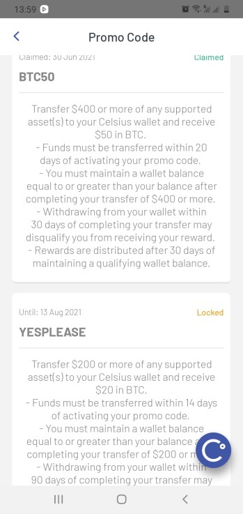 Celsius Network Coupon Code 2