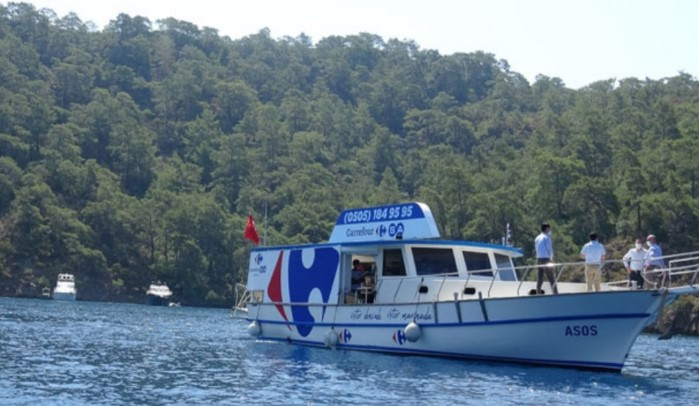 CarrefourSA sea floating supermarket introduced 1