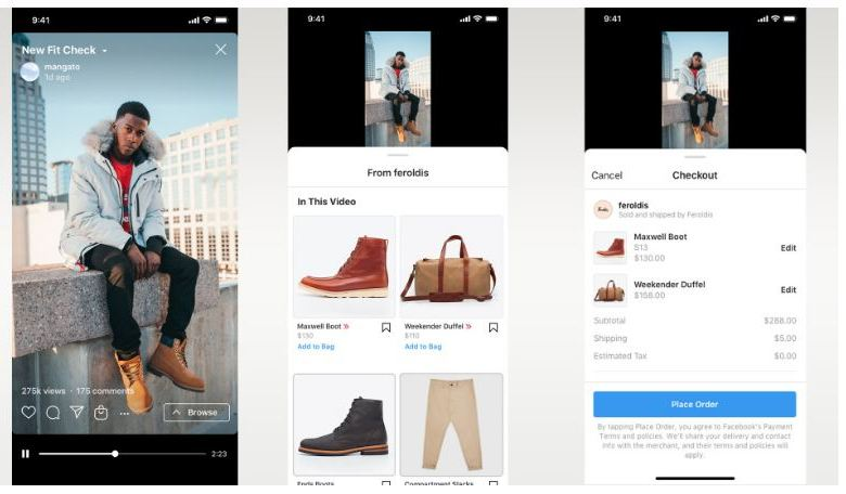 Instagram's built-in shopping cart is coming to IGTV and Reels 1