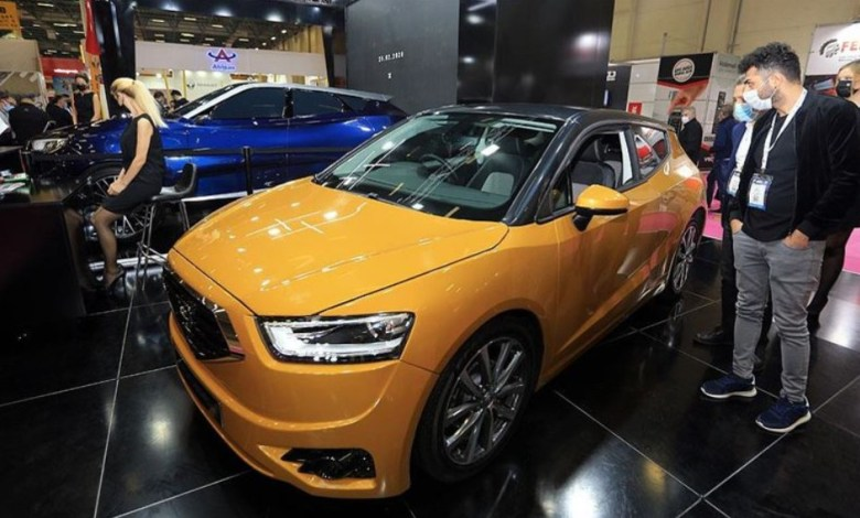 Photo of TRNC's domestic car 'Gunsel' was presented in MUSIAD EXPO