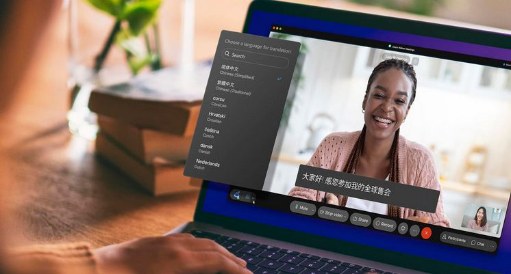 Cisco's Webex debuts free, real-time translation from English to 100+ languages 1