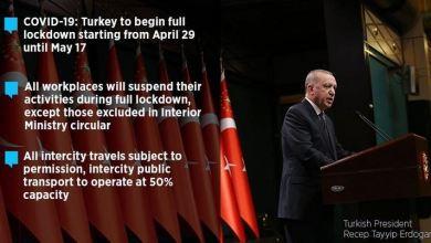 COVID-19: Turkey announces full lockdown from Thursday 8