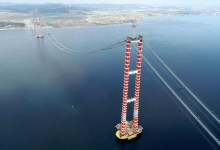 The last steel rope was installed in the construction of the 1915 Canakkale Bridge 11