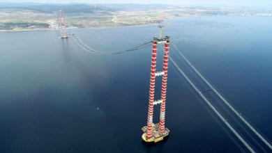 The last steel rope was installed in the construction of the 1915 Canakkale Bridge 29