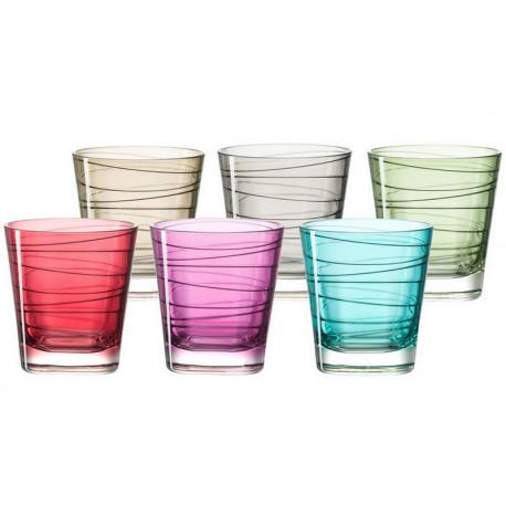 coffret 6 verres whisky colores vario leonardo